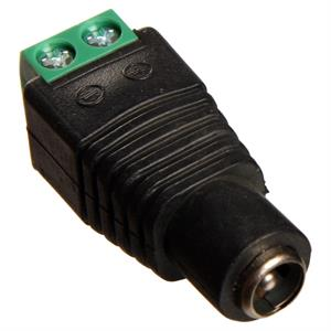 5,5 mm DC adapter med skruvar